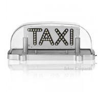 """Знак """"Такси"""" Светодиодный Белый"""