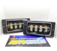 Фары противотуманные LED ВАЗ 2110-2115 40Вт 4 линзы ML (2-х режимные)