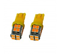 Лампа светодиодная w5w T10 20SMD Желтая