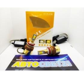 Светодиодные лампы C9S H11/H8 Белый+Желтый 2 режима