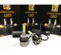 Светодиодные лампы C9S H27 Белый+Желтый 2 режима
