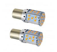 Лампа светодиодная P21W 35SMD Оранжевая 12-24В
