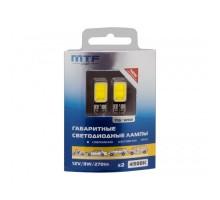 Лампы светодиодные LED w5w Т10 MTF Cob LED 4500K с Обманкой Canbus