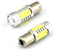 Лампа светодиодная P21W 7.5W 5cob 1-х конт.