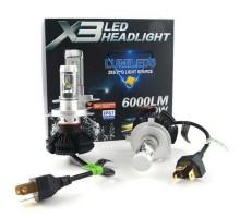 Светодиодные LED лампы X3 H4 50W 6000Lm