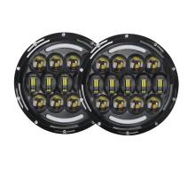 Фары LED светодиодные Нива / Нива Урбан / УАЗ  ДХО + Поворотник (линзы)