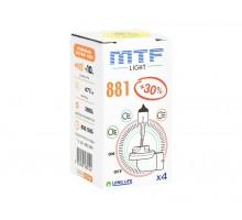 Автолампа Н27-1 (881) MTF Standart +30%