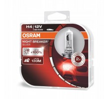 Автолампы H4 OSRAM Night Breaker Silver +100%
