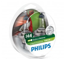 Автолампы H4 PHILIPS LongLife Eco Vision
