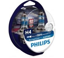 Автолампы H4 PHILIPS Racing Vision +150%