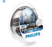 Автолампы H11 PHILIPS Crystal Vision