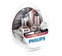 Автолампы H4 PHILIPS Vision Plus +60%