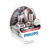Автолампы H4 PHILIPS Vision Plus +60%