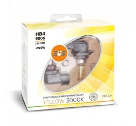 Автолампы HB4 SVS Yellow 3000K