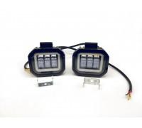 Светодиодная фара-прожектор 50W 10-30V с глазками
