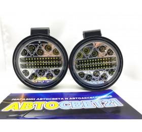 Светодиодные фары-прожекторы круглые 102W 10-30V (2шт.)
