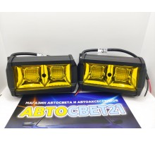 Светодиодная фара-прожектор 36W Желтая 10-30V