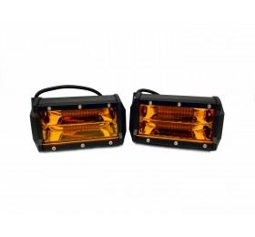 Светодиодная фара-прожектор 72W Желтая 10-30V