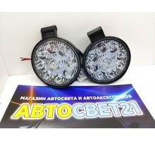 Светодиодные фары круглые мини 27W (2шт.)