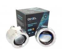 Биксеноновые линзы Dixel G5 H1 2.5 дюйма с ангельскими глазками