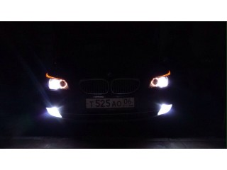 Установка светодиодных линз Bi-LED Dixel на BMW E60