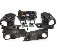 Полный набор / комплект LED противотуманных фар Lada Vesta / Лада Веста (С блоком кнопок)