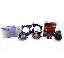 Полный комплект набор LED противотуманных фар 30W на Ford Transit, Форд Транзит 2013-2021