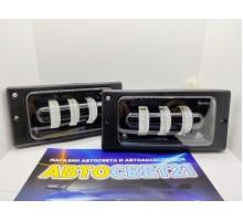 Фары противотуманные LED ВАЗ 2110-2115 48Вт 3 линзы SalMan (2-х режимные)