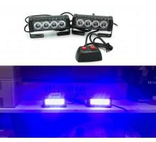 Стробоскоп FEDERAL SIGNAL 4 LED 12/24V 36Вт (Синий)
