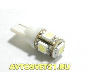 Лампа светодиодная w5w T10 5SMD