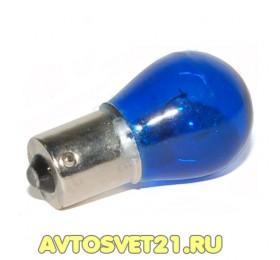 Автолампа BA15s 12В 21Вт ЛУЧ Синяя