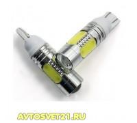 Лампа светодиодная w5w T10 7.5W с Линзой
