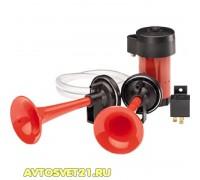 Сигнал воздушный 2 рожковый с компрессором