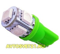 Лампа светодиодная w5w T10 5SMD Зеленая