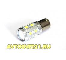 Лампа светодиодная P21W CREE + 12SMD с Линзой