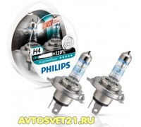 Автолампы H4 PHILIPS X-Treme Vision +130%