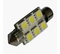 Лампа светодиодная c5w 6SMD 39mm