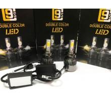Светодиодные лампы C9S H7 Белый+Желтый 2 режима