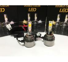 Светодиодные лампы C9S H3 Белый+Желтый 2 режима