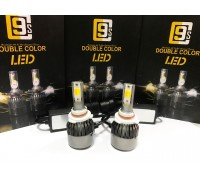Светодиодные лампы C9S HB4 Белый+Желтый 2 режима