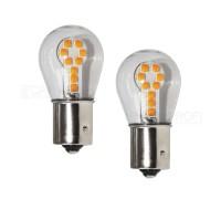 Лампа светодиодная P21W 18SMD 3030 Оранжевая
