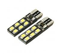 Лампа светодиодная w5w T10 12SMD 2835 с Обманкой