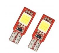 Лампа светодиодная w5w T10 2SMD 7050 с Обманкой