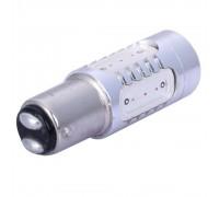 Лампа светодиодная P21/5W 7.5W 5cob 2-х конт. Красная