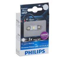 Лампа светодиодная c5w Philips X-Treme Vision LED 6000K 38мм
