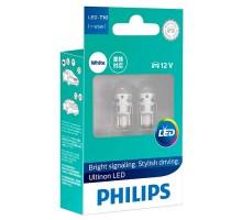 Лампы светодиодные w5w T10 Philips Ultinon LED 4000K