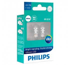 Лампы светодиодные w5w T10 Philips Ultinon LED 6000K