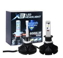 Светодиодные LED лампы X3 H1 50W 6000Lm