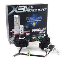 Светодиодные LED лампы X3 H3 50W 6000Lm