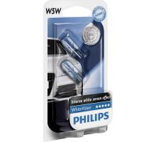 Автолампы PHILIPS White Vision w5w (в габариты)
